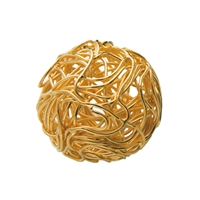 "Bead ""Wire Ball"" 14-16mm, Silver gold plated (2 pc/VE)"