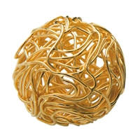"Bead ""Wire Ball"" 20-22mm, Silver gold plated (1 pc/VE)"