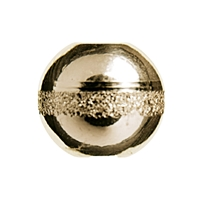 "Bead ""Saturn"" 10mm, Silver gold plated (3 pc/VE)"