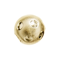 "Bead ""Moon"" 08mm, Silver gold plated (6 pc/VE)"