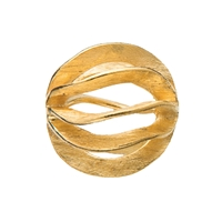 "Bead ""Gill"" 12mm, Silver gold plated frosted (1 pc/VE)"