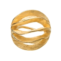 "Bead ""Gill"" 16mm, Silver gold plated frosted (1 pc/VE)"