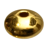 Saucer 3mm, Silver gold plated (92 pc/VE)
