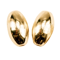 Olive 8mm, Silver gold plated (4 pc/VE)