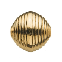 Rifled Bead, 16mm, Silver gold plated (1 pc/VE)