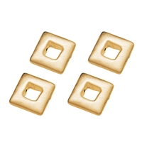 Square, 12 mm, Silver gold plated, 4 pc/VE