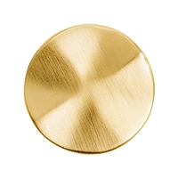 Round plate with waves 25mm, Silver gold plated frosted (1 pc/VE)