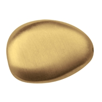 Pebble 25mm, Silver gold plated frosted (1 pc/VE)