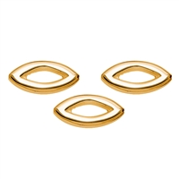 Navette 24mm, Silver gold plated (3 pc/VE)