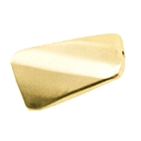 Rectangel twisted facetted 20mm, Silver gold plated frosted (3 pc/VE)