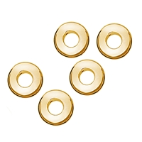 Donut 10 mm, Silver gold plated (5 pc/VE)