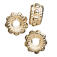 Roundel with Ornaments 5mm, Silver gold plated (19 pc/VE)