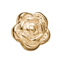 Rose, 4mm, Silver gold plated (20 pc/VE)