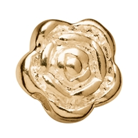 Rose 6mm, Silver gold plated (9 pc/VE)
