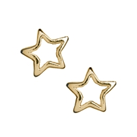 Star 5 mm, Silver goldplated (13 pc/VE)