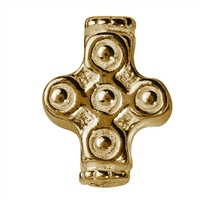 Ornamental Cross 11mm, Silver gold plated (4 pc/VE)