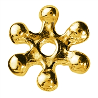 Bead Star 7mm, Silver gold plated (24 pc/VE)