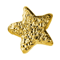 Sparkling Star 5mm, Silver gold plated stardust (25 pc/VE)