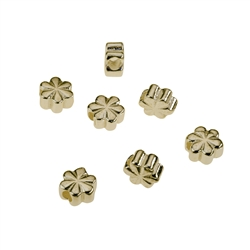 Clover 5,0mm, Silver gold plated (10 pc/VE)