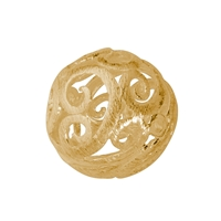 "Bead ""Florere"" 17mm, Silver gold plated frosted (1 pc/VE)"