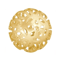 "Bead ""Baroque"" 19mm, Silver gold plated frosted (1 pc/VE)"