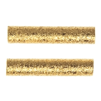 Tube 2x15mm, Silver gold plated frosted (15 pc/VE)