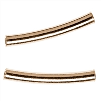 Tube curved 3x20mm, Silver gold plated (12 pc/VE)