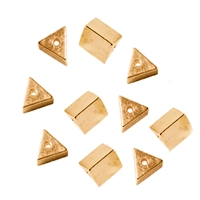 Triangles drilled long side 3mm, Silver gold plated (10 pc/VE)