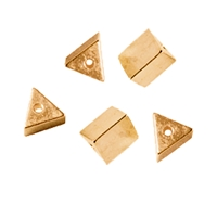 Triangles drilled long side 5mm, Silver gold plated (5 pc/VE)