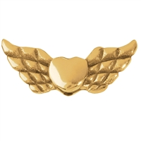 "Wing ""Heart"" 22mm, Silver gold plated (4 pc/VE)"