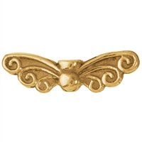"Wing ""Fairy"" 22mm, Silver gold plated (4 pc/VE)"