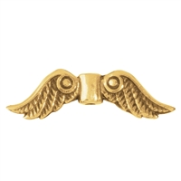 "Wing ""Trjgul"" 22mm, Silver gold plated (4 pc/VE)"