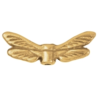 "Wing ""Dragonfly"" 22mm, Silver gold plated (4 pc/VE)"