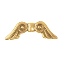"Wing ""Märchen"" 15mm (small), Silver gold plated (4 pc/VE)"