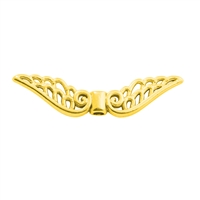"Wing ""Baroque"" 30mm, Silver gold plated (4 pc/VE)"