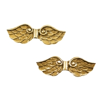 "Wings ""Pegasus"" 25mm, Silver goldplated (2 pc/VE)"