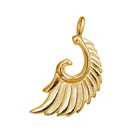 "Wing ""Aariel"" 21mm, Silver goldplated (2 pc/VE)"
