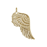 "Wing ""Gabriel"" 32mm, Silver goldplated (2 pc/VE)"