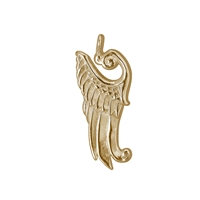 "Wing ""Kyriel"" 27mm, Silver gold plated (2 pc/VE)"