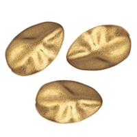 Pebble flat 20mm, Silver gold plated frosted (3 pc/VE)