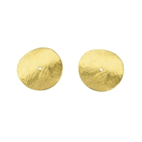 Disc curved 10 mm, Silver gold plated frosted (10 pc/VE)