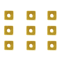 Disc Square 03 x 03mm, Silver gold plated (62 pc/VE)