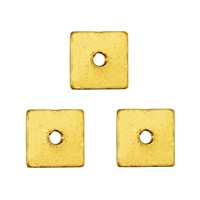Disc square shape, Silver gold plated shiny, 05 x 05 x 01mm (appr. 20pc/VE)