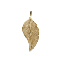 Feather Schwalbe/Swallow 26mm, Silver goldplated (4 pc/VE)