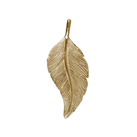 Feather Schwalbe/Swallow 40mm, Silver goldplated (1 pc/VE)