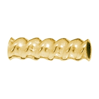 Contorted Tube 8x3mm, Silver gold plated (30 pc/VE)