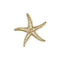 Seestern/Starfish 17mm, Silver goldplated (2 pc/VE)