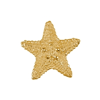 Seestern/Starfish 19mm, Silver goldplated (2 pc/VE)