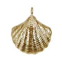 Muschel/Shell 19mm, Silver goldplated (1 pc/VE)