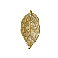 Rose Leaf with four loops 26mm, Silver goldplated (2 pc/VE)